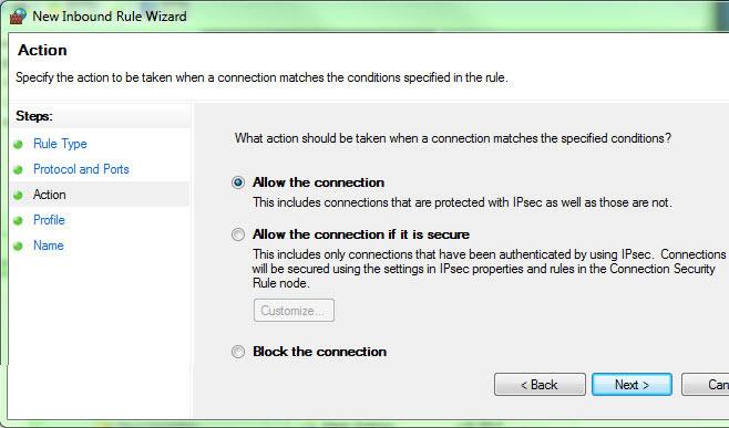 Windows Firewall Configuration
