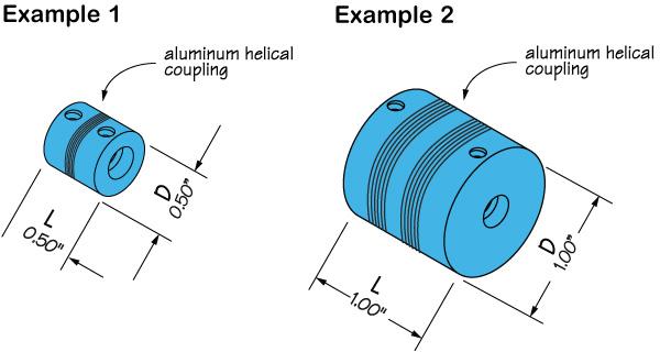 Figure 1: Aluminum helical couplings