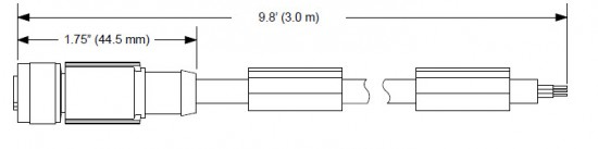 MD-CS620-000 4-pin M12 B-coded (Female) to flying leads
